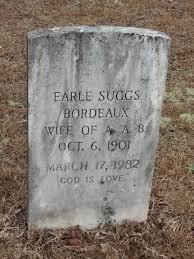 Elena Earle Suggs Bordeaux (1901-1982) - Find A Grave Memorial