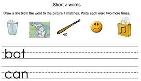 Two ways to print this free phonics educational worksheet: First Grade Phonics Worksheets