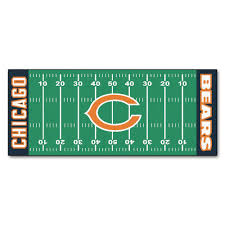fanmats chicago bears 3 ft x 6 ft football field rug runner rug