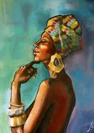 african princess african art oil painting