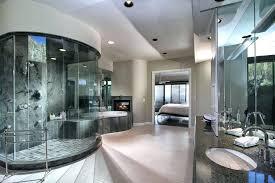 modern master bathrooms. Contemporary Master Bathroom With Walk In  Shower And A Drop Tub Modern Bathrooms O