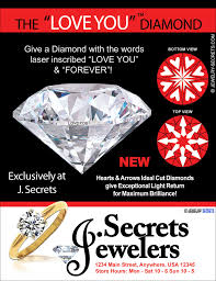 ad sample the love you forever diamond sample advertisement jewelry secrets