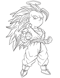Dragon Ball Z Coloring Pages Super Saiyan 3 Coloringstar