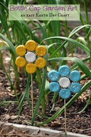 garden crafts. Easy Earth Day Crafts Bottle Cap Garden Art E