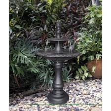 h metal tiered outdoor fountain