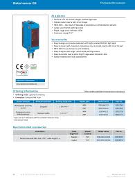 efficient solutions for the electronics and solar industry sick 55 56 global sensor g6 photoelectric
