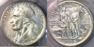 1935 Silver Half Dollar Value Chart Commemorative Half Dollar 1935 34 Usa S Boone Pcgs Ms 66 Mintage 2 004
