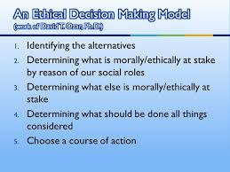 Ethical Decision Making Models Ethical Considerations In Home Visiting Ppt Video Online Download