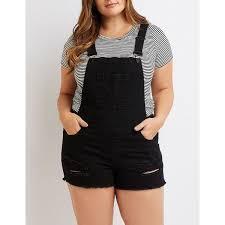 plus size overalls shorts refuge frayed hem denim shortalls 35 liked on polyvore