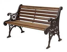 vintage cast iron wood garden bench