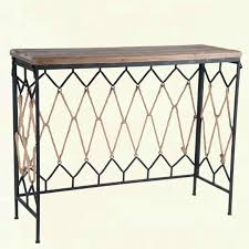 woven metal furniture. Geometric Woven Metal And Rope Console Table Furniture