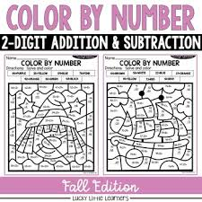 Worksheets, flash cards, coloring pages suitable for toddlers, preschool and kindergarten to help children learn numerals and early math concepts. Fall Addition Color By Number Worksheets Teaching Resources Tpt