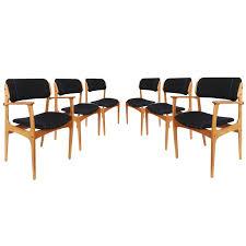 six erik buch mid century teak dining chairs denmark 1960s