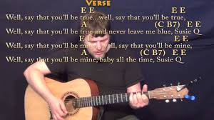 Suzie Q (CCR) Strum Guitar Cover Lesson with Chords/Lyrics