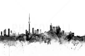 Toronto Skyline Black – high-quality ...