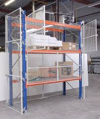 mesh cages doors on pallet racking