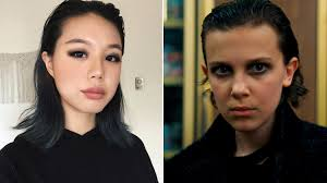 stranger things eleven s in punk makeup was recreated by a beauty ger allure