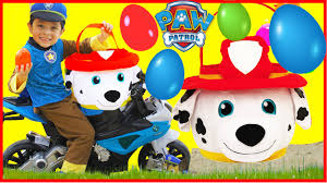 paw patrol giant egg surprise opening