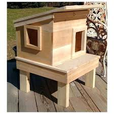 outdoor cat house this outdoor cat house promises days of enjoyment in and around it for