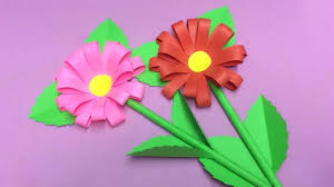 Flower Making Paper How To Make Paper Flower Making Paper Flowers Step By Step Diy