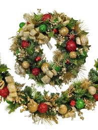 Sparkle Red And Green Garland Main