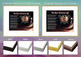angel wings frame and mat choices