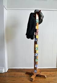 How To Build A Standing Coat Rack Inspiration Diy Coat Rack Stand Building Block Coat Rack 32 Diy Stand Coat Rack