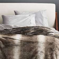 light grey faux fur blanket
