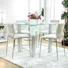 wayfair glass dining table pub style dining table from furniture dining room sets wayfair glass top