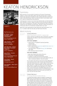 Mechanic Resume Delectable Mechanic Resume Samples VisualCV Resume Samples Database