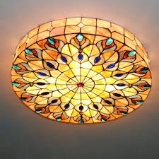 retro 4 light tiffany style stained glass peacock big ceiling with throughout fixture remodel 14