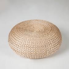 Yoga mat meditation cushions rattan ottoman stool Traditional
