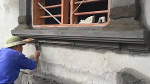 Concrete Window Design Smart Construction Sand And Cement On The Window Simple