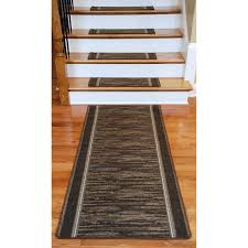 dean flooring company washable non skid carpet stair treads boxer chocolate 13
