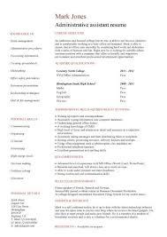 Administration Cv Template Free Administrative Cvs Administrator Job  Description Office Clerical.