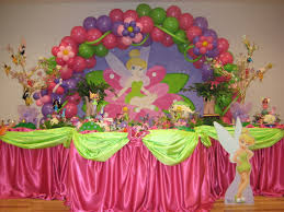 Fairy Birthday Party Decorations Tinkerbell 1st Birthday Party Adrianas Theme Party Decoration