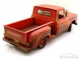 1963 Chevy Pickup Truck, Orange w/ Mud - Greenlight Twilight 12863 ...
