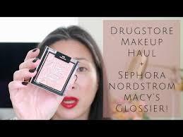 makeup haul sephora glossier nordstrom macy s