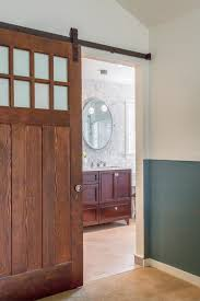 frosted glass barn doors. Furniture : Hardwood Rustic Barn Door Design Ideas Come With Frosted Glass And Dark Brown Metal Doors D