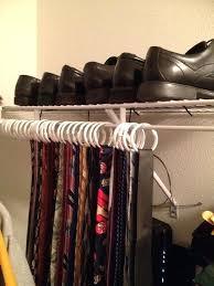 tie organizers for closet homemade tie rack use shower curtain hooks to organize ties by tie