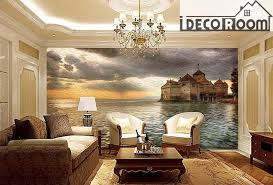 castle wall paper wall print decal wall