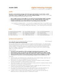 Social Media Manager Resume Sample 20 Digital Marketing Manager Template .
