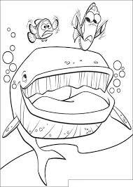 Kids N Fun Kleurplaat Finding Nemo De Film Een Walvis