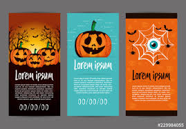 Dl Flyer Layouts With Halloween Illustrations Buy This Stock