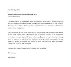 Agreement Of Food Service Termination Letter Template Sample ...