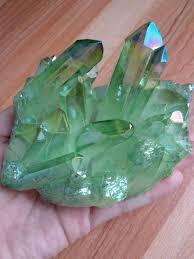 Light Green Crystal 445g Light Green Aura Quartz Crystal