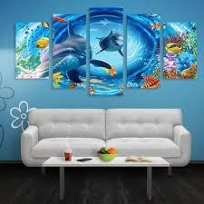 dolphin print split canvas wall art paintings  on dolphin canvas wall art with dolphin print split canvas wall art paintings 1pc 16 39 2pcs 16 24