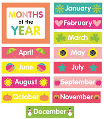 64 Particular Months Printable