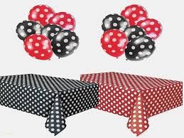 60 mickey mouse black with white polka dots round table cloth