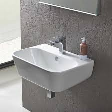 wall hung basins mounted sinks drench pertaining to sink design 8
